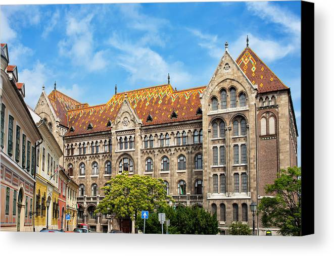 Budapest Canvas Print featuring the photograph National Archives Of Hungary by Artur Bogacki