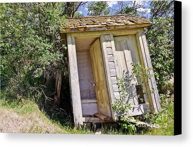 Outhouses Canvas Print featuring the photograph Outhouse For Two by Sue Smith