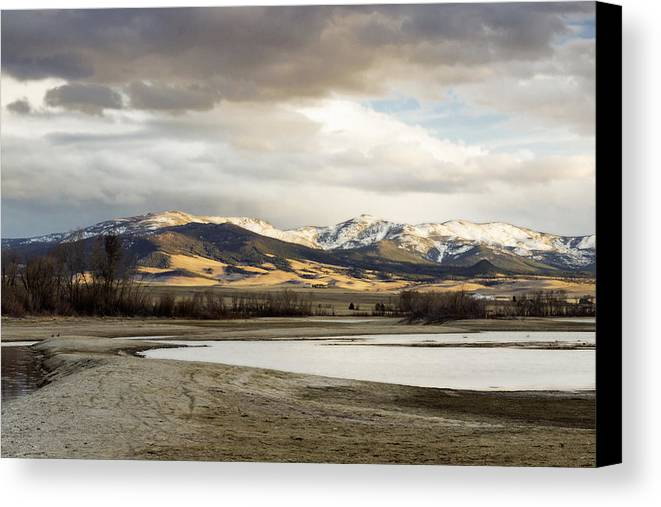 Mountains Canvas Print featuring the photograph Peaceful Day In Helena Montana by Dana Moyer