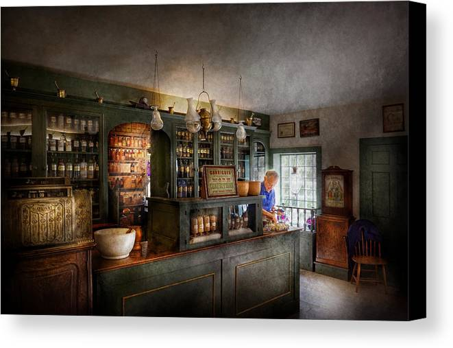Doctor Canvas Print featuring the photograph Pharmacy - Morning Preparations by Mike Savad