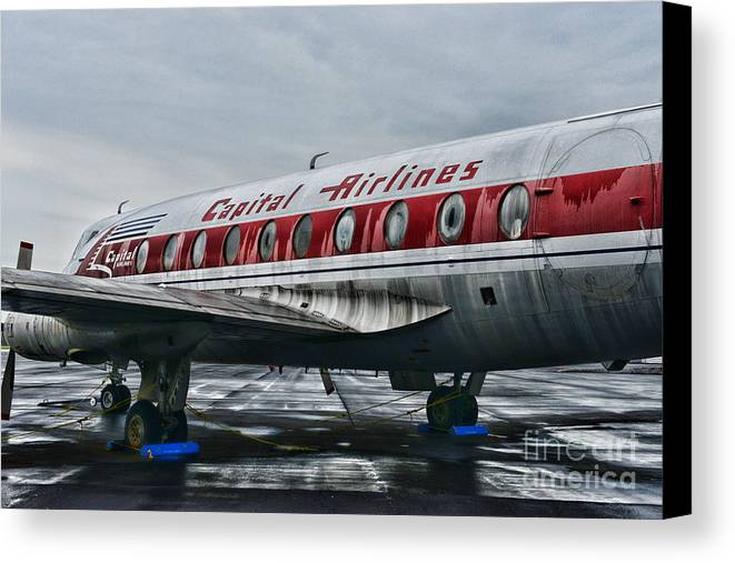 Paul Ward Canvas Print featuring the photograph Plane Obsolete Capital Airlines by Paul Ward