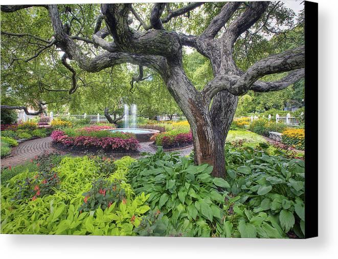 Prescott Garden Canvas Print featuring the photograph Prescott Garden by Eric Gendron