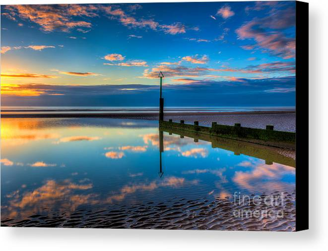 Sunset Canvas Print featuring the photograph Reflections by Adrian Evans