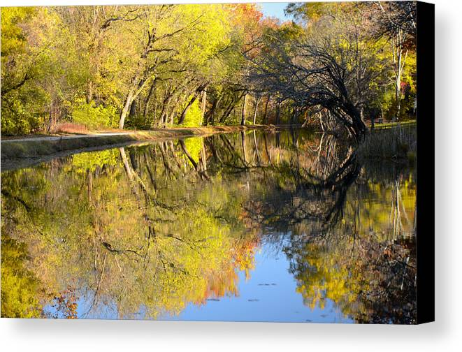 Autumn Canvas Print featuring the photograph Reflections Of Autumn by Kathi Isserman
