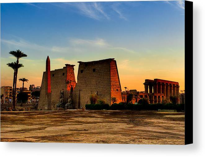 Egypt Canvas Print featuring the photograph Seeking The Ancient Ruins Of Thebes In Luxor by Mark E Tisdale