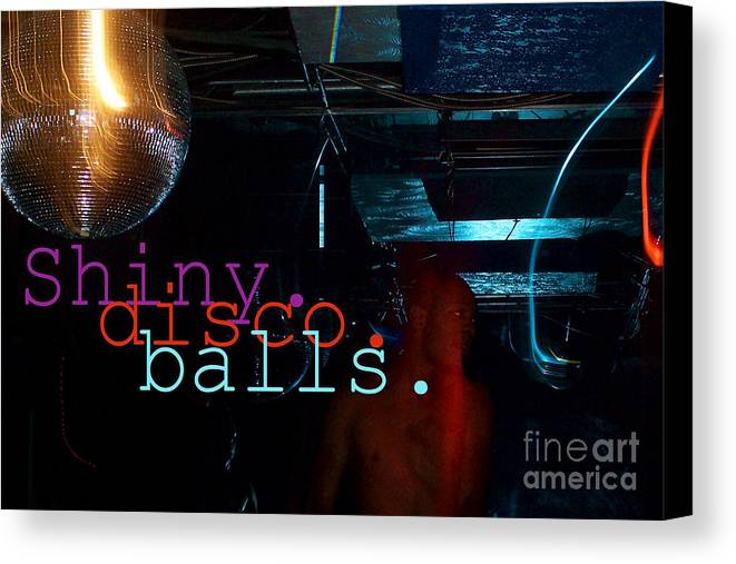 Shiny Disco Balls Canvas Print featuring the digital art Shiny Disco Balls by Corey Garcia