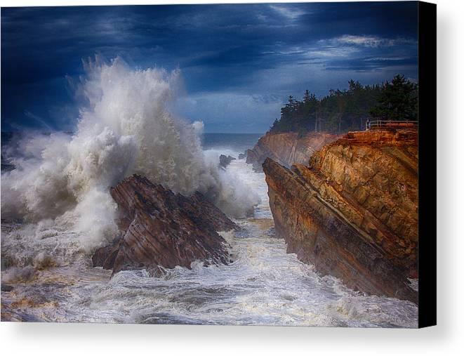 Storm Canvas Print featuring the photograph Shore Acre Storm by Darren White