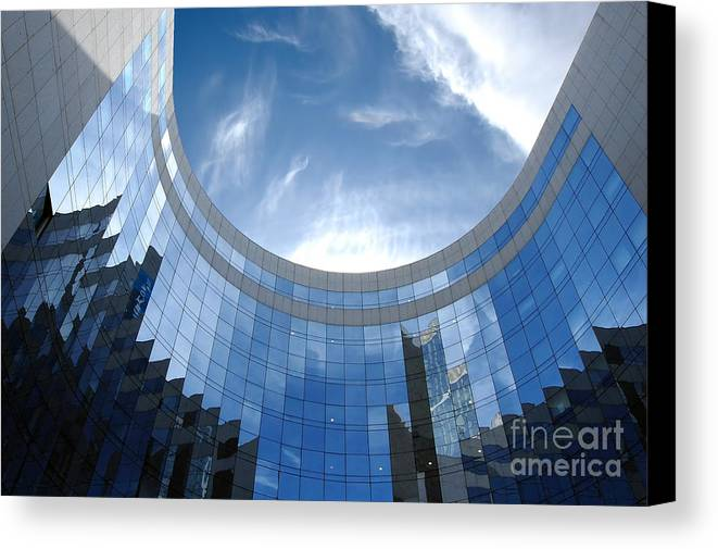 Architectural Canvas Print featuring the photograph Skyscraper by Michal Bednarek