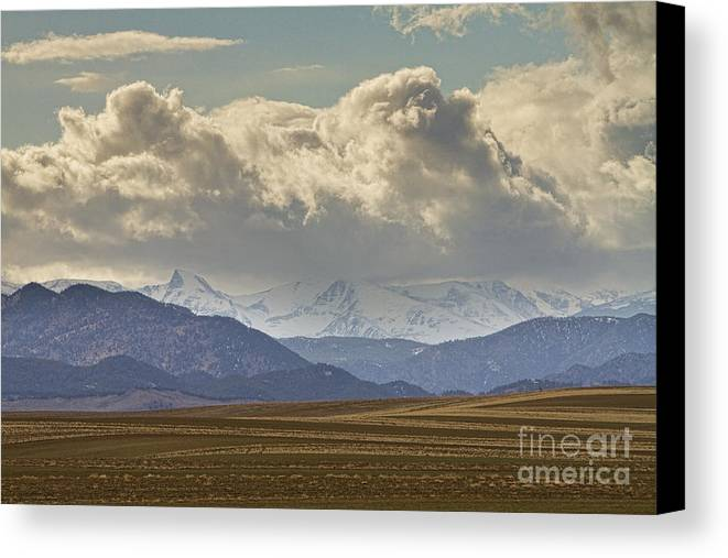 Rocky Mountains Canvas Print featuring the photograph Snowy Rocky Mountains County View by James BO Insogna