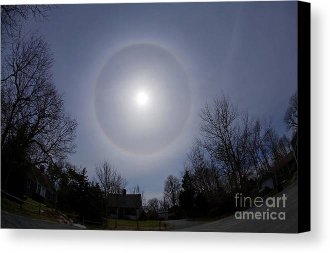 Science Canvas Print featuring the photograph Solar Halo by Chris Cook