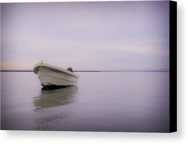 3scape Photos Canvas Print featuring the photograph Solitary Boat by Adam Romanowicz