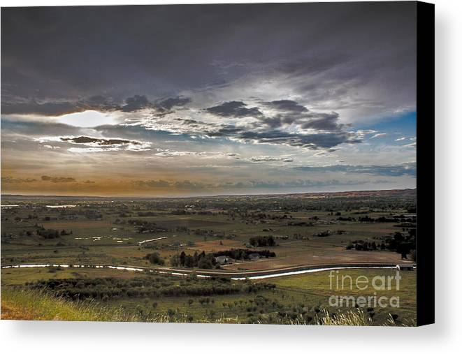 Gem County Canvas Print featuring the photograph Storm Over Emmett Valley by Robert Bales