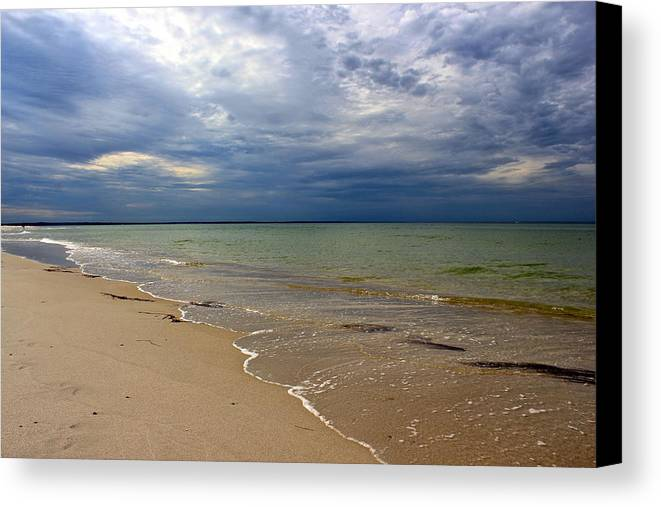 Mayflower Beach Canvas Print featuring the photograph Stormy Mayflower Beach by Amazing Jules