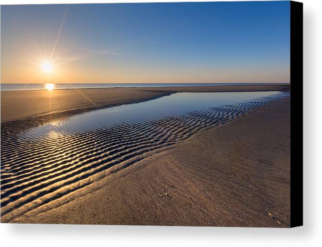 Clouds Canvas Print featuring the photograph Sunshine On The Beach by Debra and Dave Vanderlaan