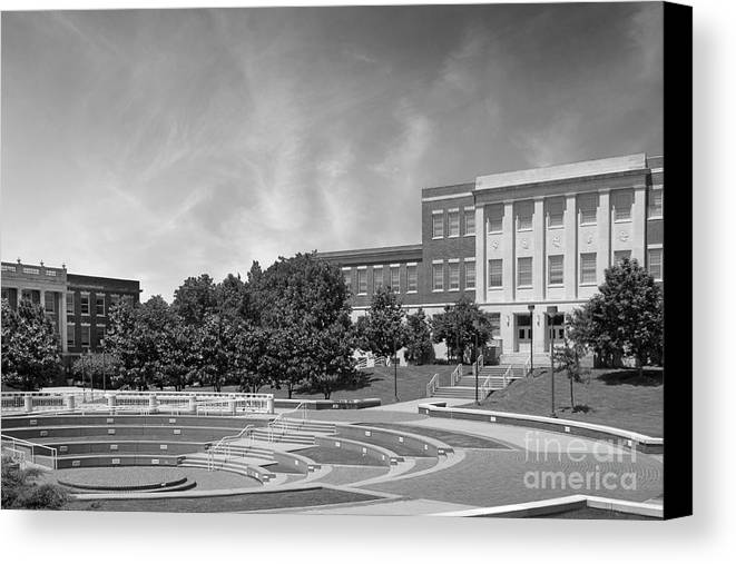 Averitte Amphitheater Canvas Print featuring the photograph Tennessee State University Averitte Amphitheater by University Icons