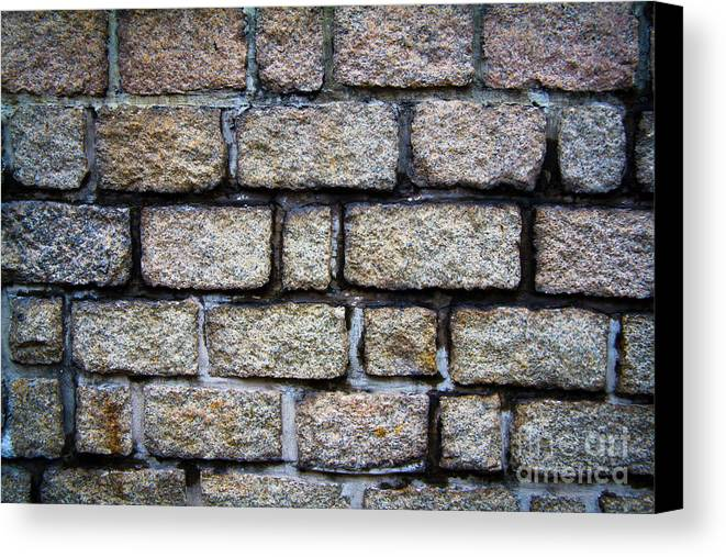 Square Canvas Print featuring the photograph Texture Of Old Wall by Niphon Chanthana