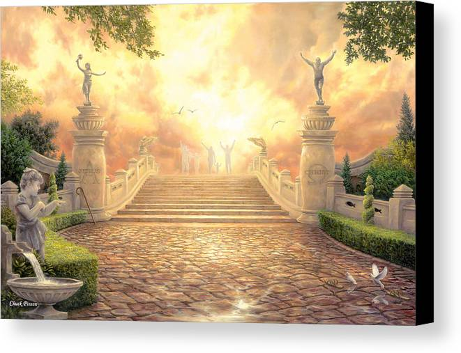 Heaven Canvas Print featuring the painting The Bridge Of Triumph by Chuck Pinson