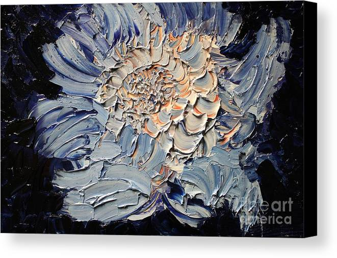 Michael Kulick Canvas Print featuring the painting The Flower I Never Sent by Michael Kulick