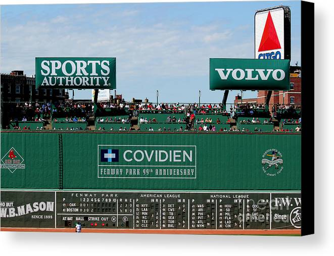 Fine Art America Canvas Print featuring the photograph The Green Monster 99 by Tom Prendergast