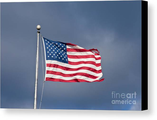 America Canvas Print featuring the photograph The United States Of America by Benjamin Reed