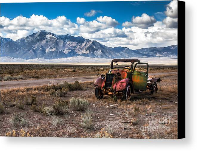 Transportation Canvas Print featuring the photograph This Old Truck by Robert Bales
