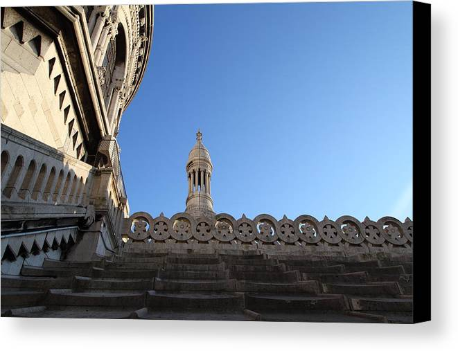 And Canvas Print featuring the photograph View From Basilica Of The Sacred Heart Of Paris - Sacre Coeur - Paris France - 01134 by DC Photographer