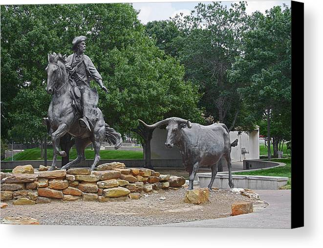 Cattle Canvas Print featuring the photograph Waco - Branding The Brazos by Christine Till