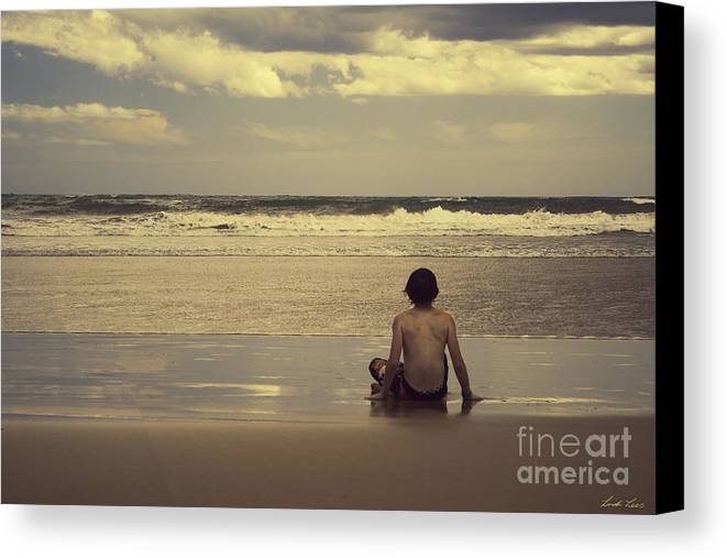 Surf Canvas Print featuring the photograph Watching The Waves by Linda Lees