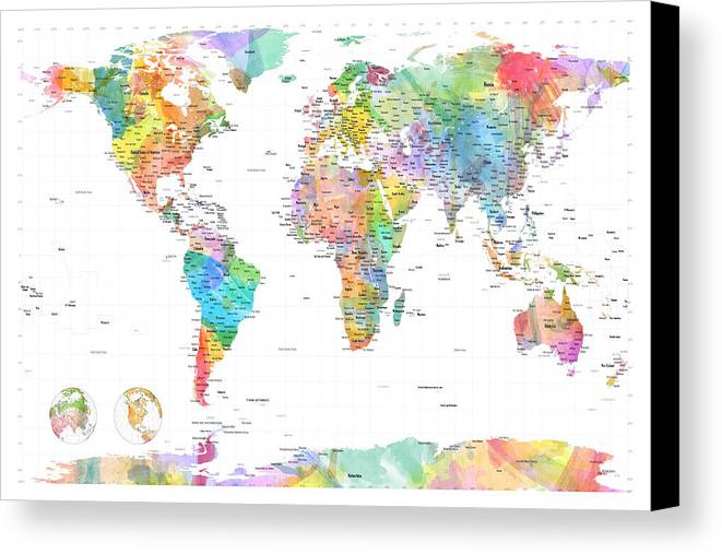 World Map Watercoloreii By Michael