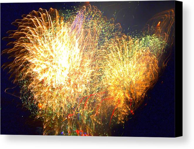 Firework Canvas Print featuring the photograph We Can't Stop The Fire by Tim Leung
