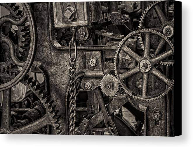 Abandoned Canvas Print featuring the photograph Welcome To The Machine by Erik Brede