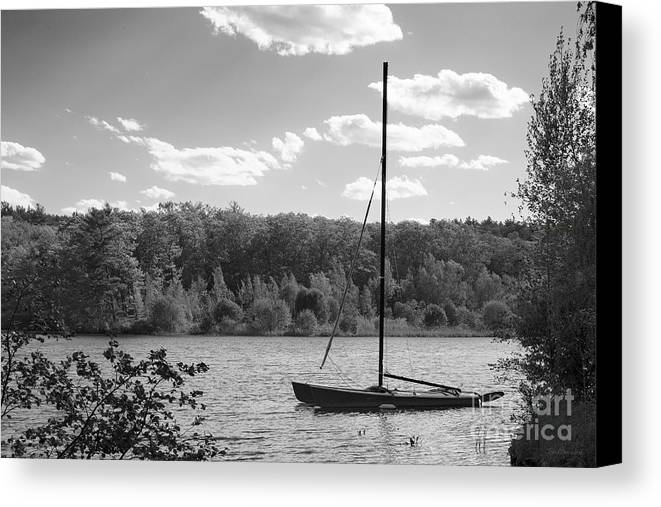 Lake Waban Canvas Print featuring the photograph Wellesley College Waban Lake by University Icons