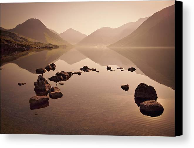 Dawn Canvas Print featuring the photograph Wetlands Mornings by Evelina Kremsdorf