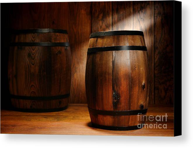 Barrel Canvas Print featuring the photograph Whisky Barrel by Olivier Le Queinec