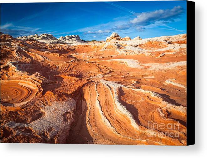 America Canvas Print featuring the photograph Wild Sandstone Landscape by Inge Johnsson