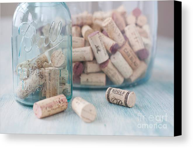 Wine Canvas Print featuring the photograph Wine Cork Collection by Kay Pickens