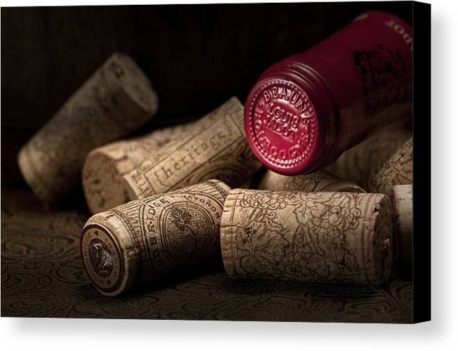 Wine Cork Canvas Print featuring the photograph Wine Corks Still Life Iv by Tom Mc Nemar