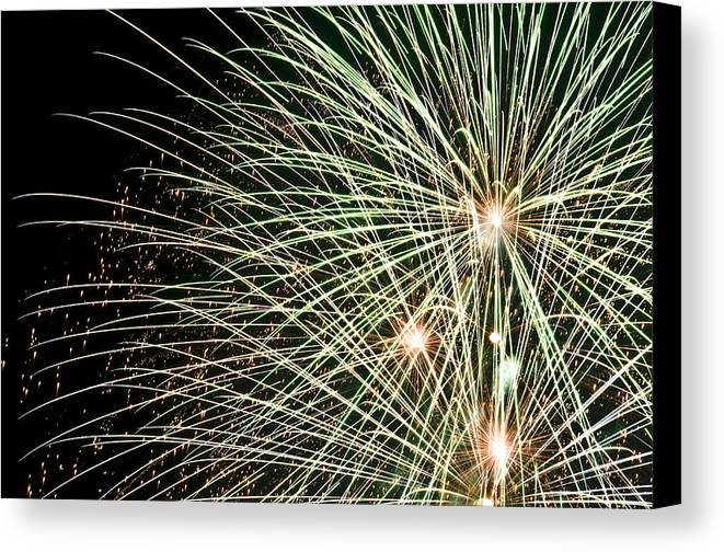 4th Canvas Print featuring the photograph Works Of Fire IIi by Ricky Barnard