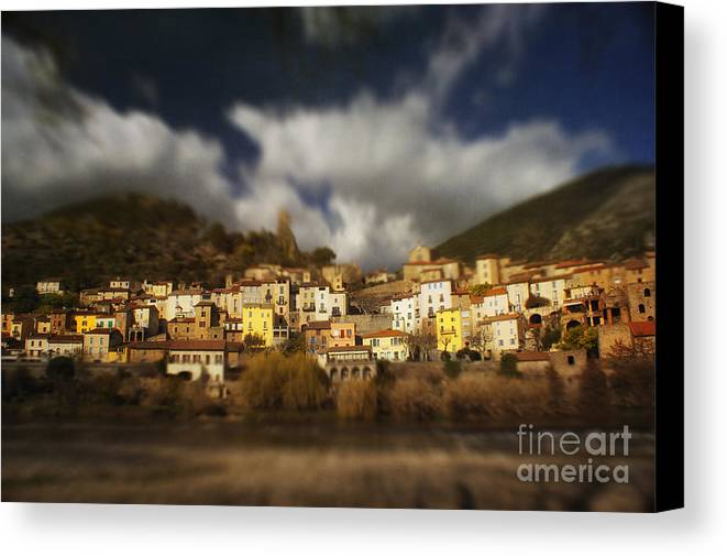 Roquebrun Canvas Print featuring the photograph Roquebrun by Paul Grand