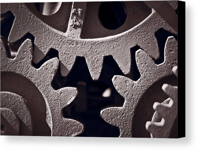 Gear Canvas Print featuring the photograph Gears Number 2 by Steve Gadomski