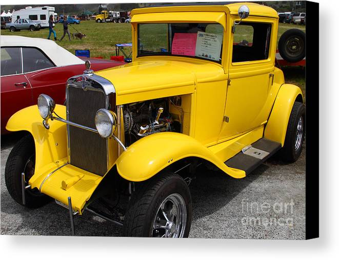 1929 Canvas Print featuring the photograph 1929 Chevrolet Coupe 7d15140 by Wingsdomain Art and Photography