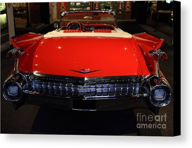Transportation Canvas Print featuring the photograph 1959 Cadillac Convertible - 7d17377 by Wingsdomain Art and Photography