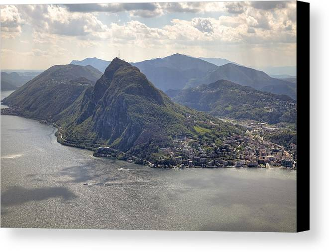 Monte Bre Canvas Print featuring the photograph Lugano by Joana Kruse