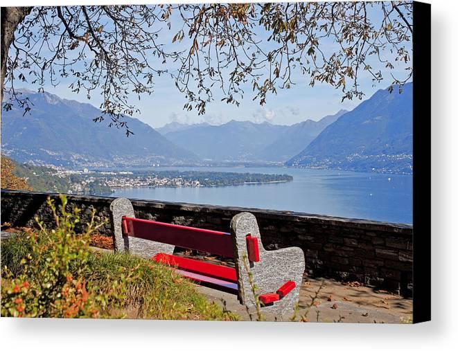 Lago Maggiore Canvas Print featuring the photograph Lake Maggiore by Joana Kruse