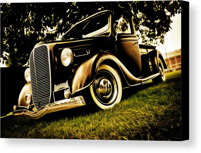 Ford Pickup Canvas Print featuring the photograph 37 Ford Pickup by Phil 'motography' Clark