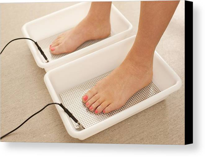 Studio Shot Canvas Print featuring the photograph Iontophoresis For Excess Sweating by