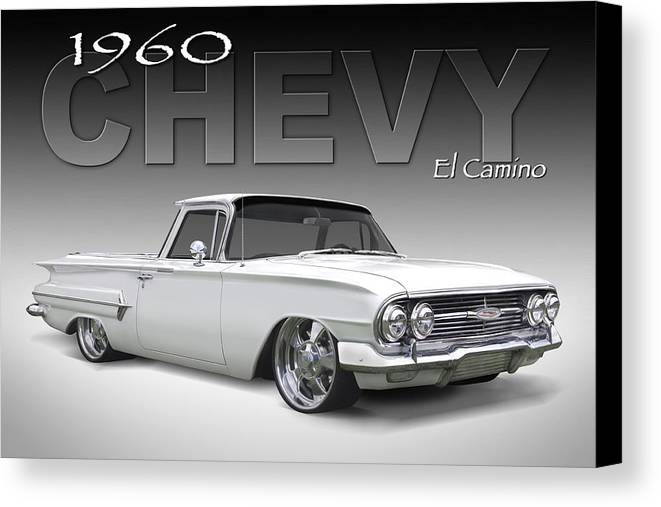 1960 Chevy El Camino Canvas Print featuring the photograph 60 Chevy El Camino by Mike McGlothlen