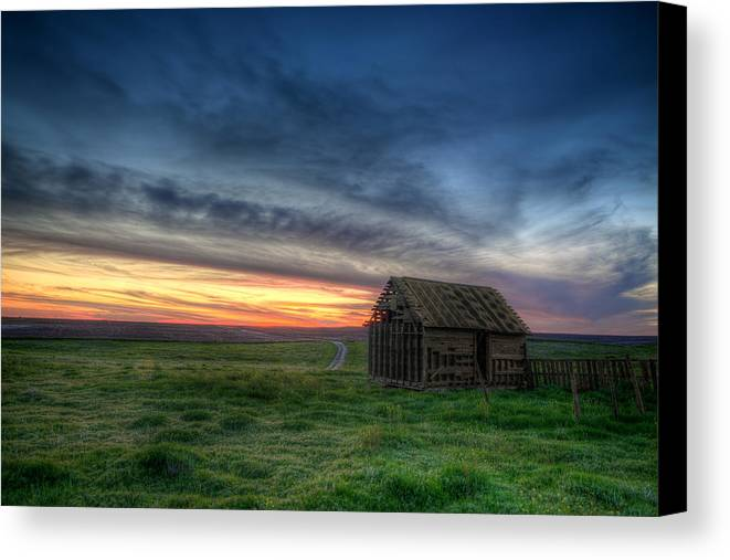 Cabin Canvas Print featuring the photograph Abandoned Beauty by Thomas Zimmerman
