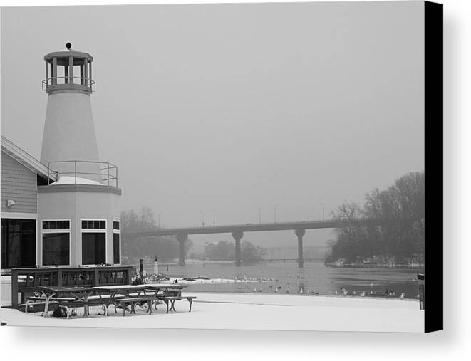 Appleton Yacht Club Canvas Print featuring the photograph Appleton Yacht Club by Joel Witmeyer