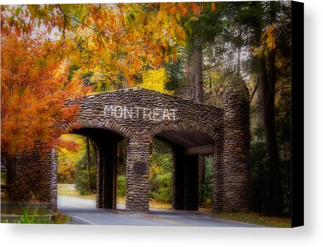 Asheville Canvas Print featuring the photograph Autumn Gate by Joye Ardyn Durham